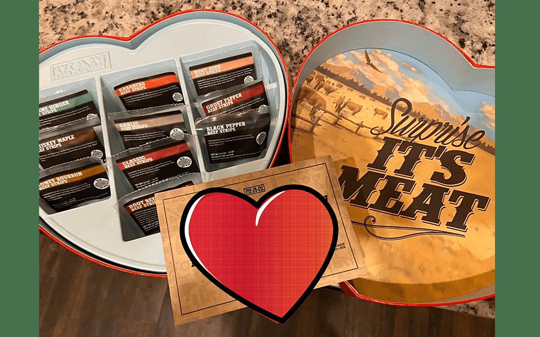 Achetez aujourd'hui: boîte en forme de coeur avec viande de boeuf séchée  – Caisses en bois – Caisses à Pommes