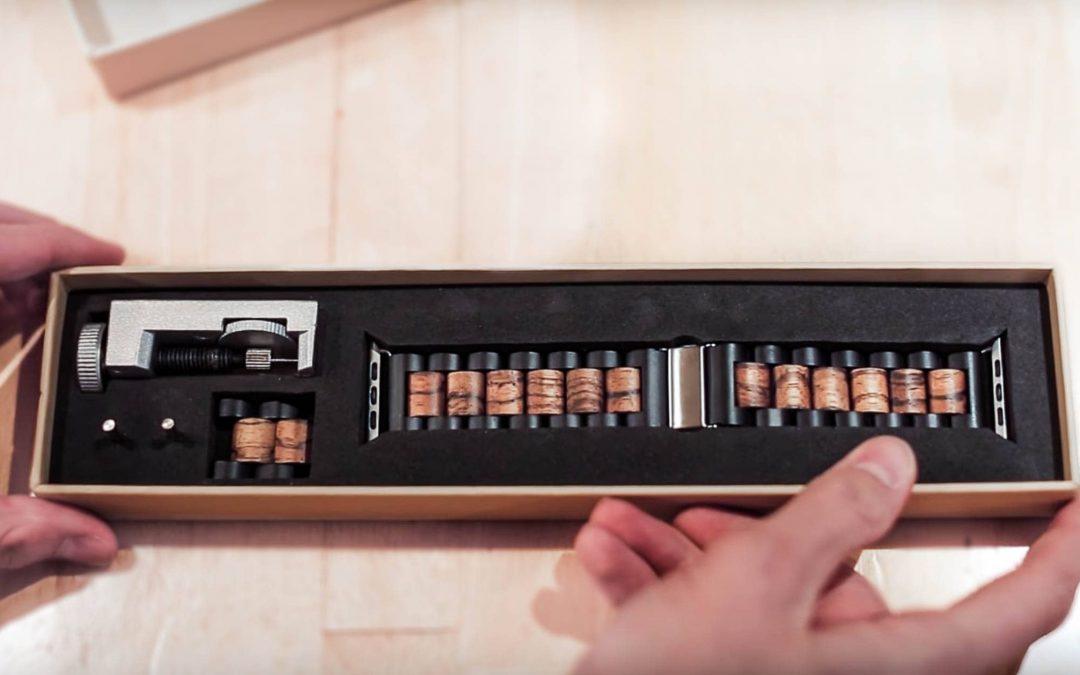 Des bandes en bois faites à la main donnent à l'Apple Watch un aspect rustique et une sensation polie  – Caisses en bois – Caisses à Pommes