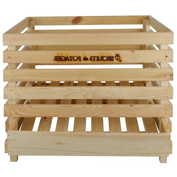caisse en bois solide