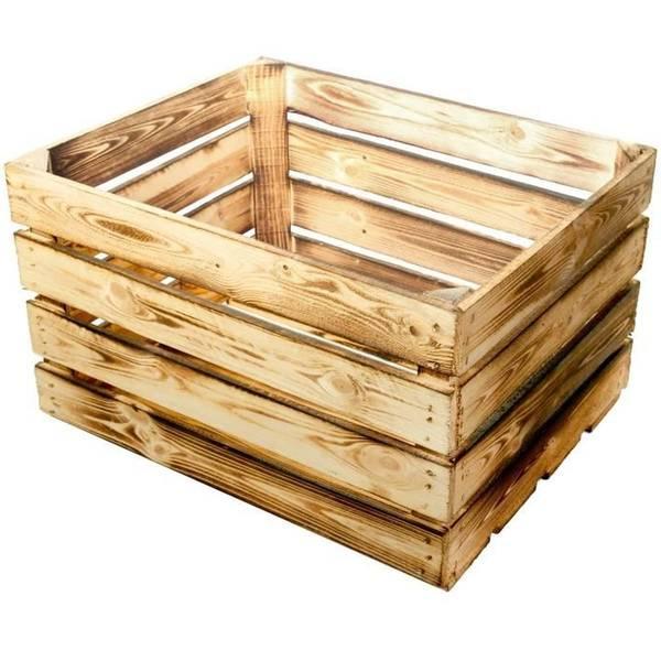 Acheter Caisse en bois neuve : caisse de pommes en anglais deco