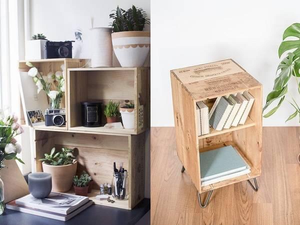 Acheter Caisse en bois salle de bain / caisse en bois pour rangement comparatif