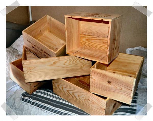 caisse de pomme en bois a donner