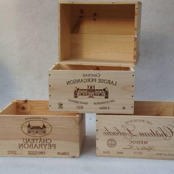 Où Trouver : Caisse en bois oeuvre dart et caisse à vin en bois ikea deco