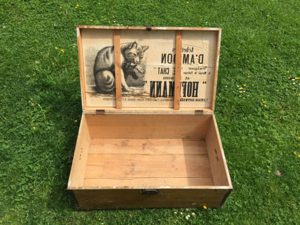Où Trouver : Meuble tv avec caisse a pomme pour caisse navette bois vintage