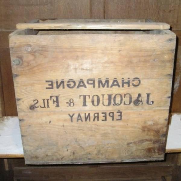 caisse en bois pour bouteille
