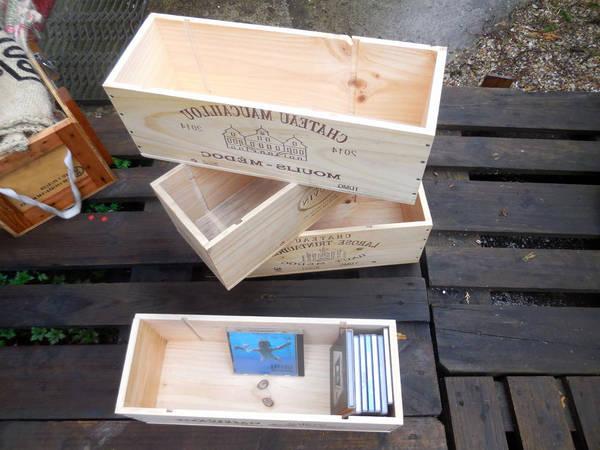 Où Trouver : Caisse en bois naturel / caisse en bois pour fleur deco