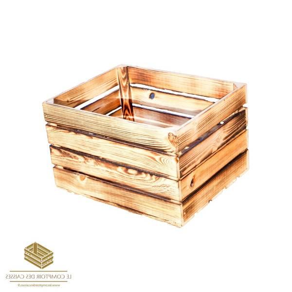 caisse en bois urne