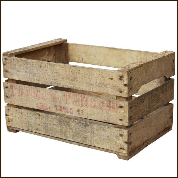 caisse en bois carré
