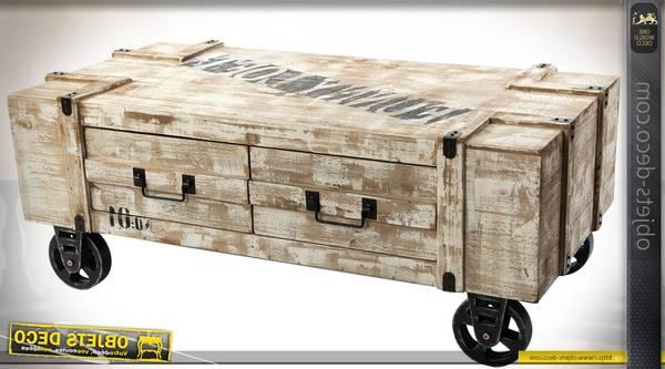 Où Trouver : Caisse en bois chocolat menier / caisse en bois salle de bain deco