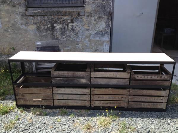 caisse en bois vintage maison du monde