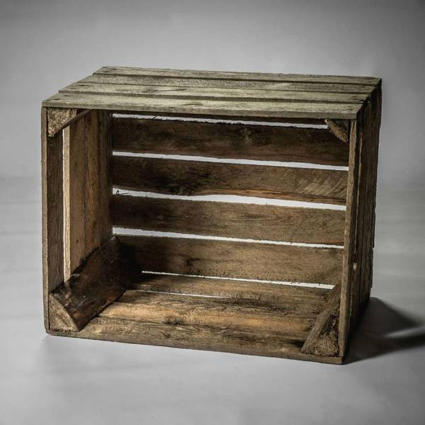 caisse en bois vinyle